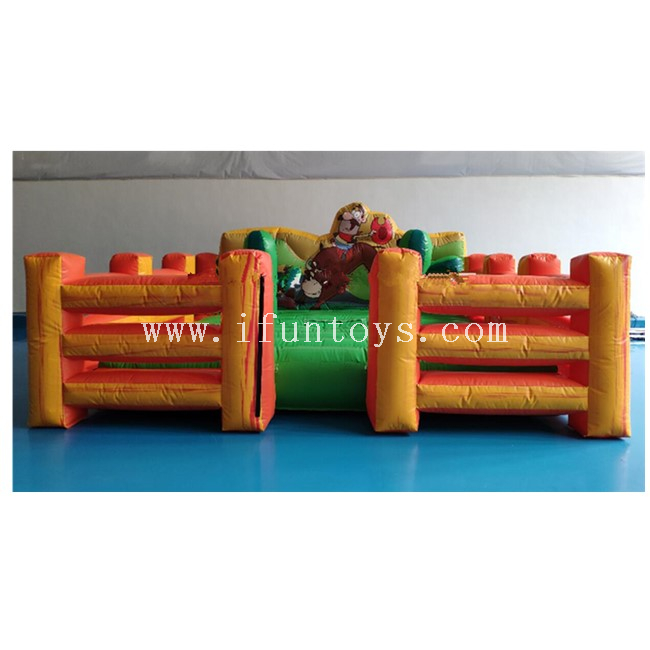 Inflatable Bull Riding Machine/ Inflatable Mechanical Bull / Inflatable Rodeo Bull with Mattress for Sales
