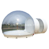 Cheap Inflatable Bubble lodge / clear lawn tent / bubble hotel/ camping tent with 1 tunnel