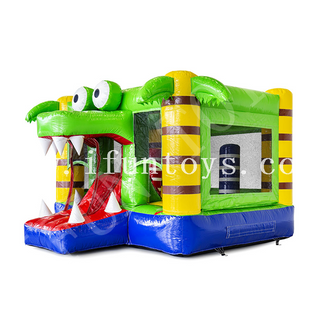 Inflatable Mini Bounce Crocodile Jumping Castle for Kids