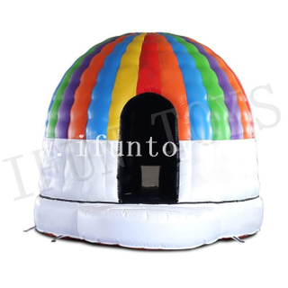 Outdoor Inflatable Disco Dome / Music Jumping Bouncy / Disco Inflatable Bouncer House for Party