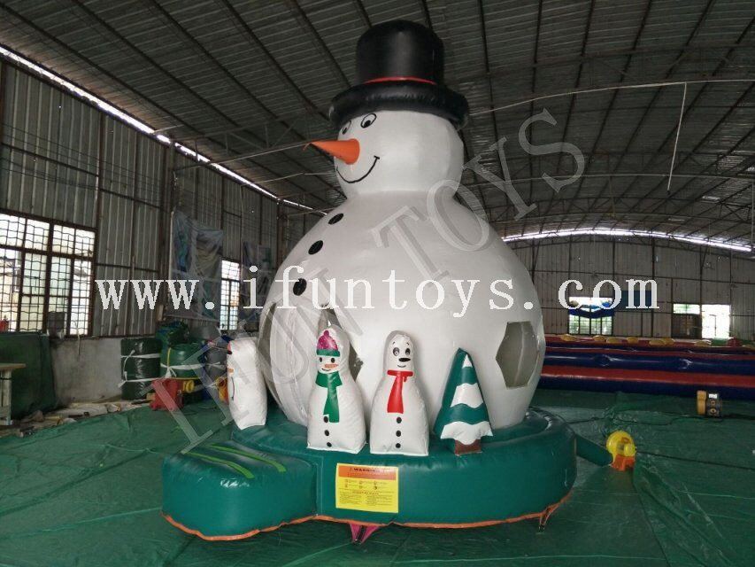 Inflatable Snowman Jumping Bouncer / Christmas Bouncy House / Outdoor Playground for Kids