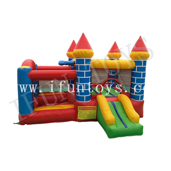 Inflatable Castle Bouncy Combo with Basketball Hoop / Jumping Playhouse for Kids