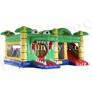 Crocodile Inflatable Jumping Bouncy Castle / Slide Combo for Kids