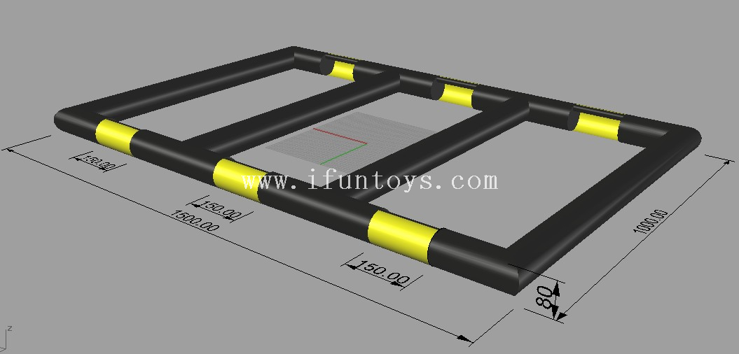 Hot sale 3 in 1 inflatable panna street soccer or panna football field or handball pitch for kids