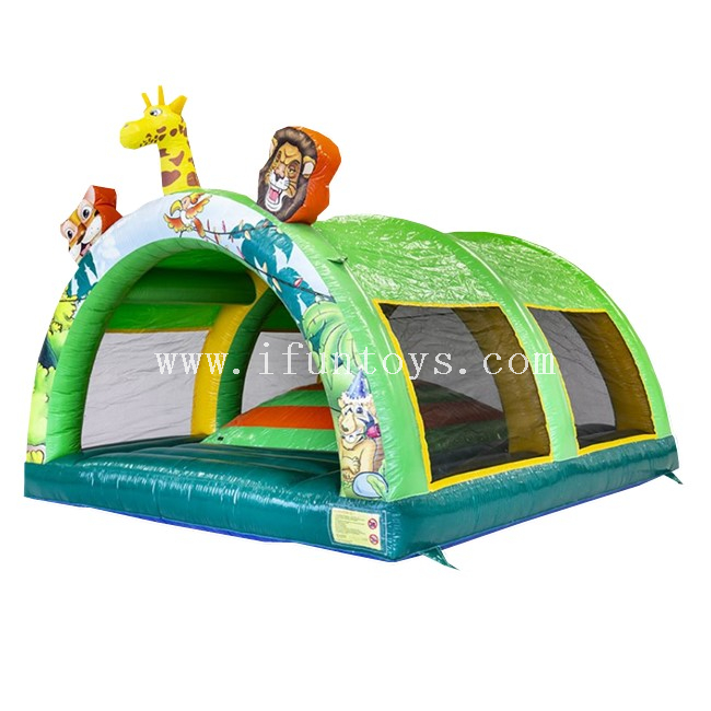 Inflatable Air Mountain with Roof Jungle / Inflatable Climbing Soft Hills / Inflatable Jumping Pillow Bouncer for Kids And Adults