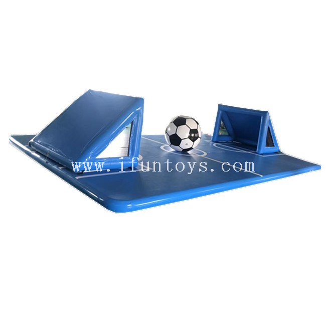 Floating Inflatable Water Football Field / Inflatable Water Polo Soccer Field /Inflatable GYM Air Track for Football Game