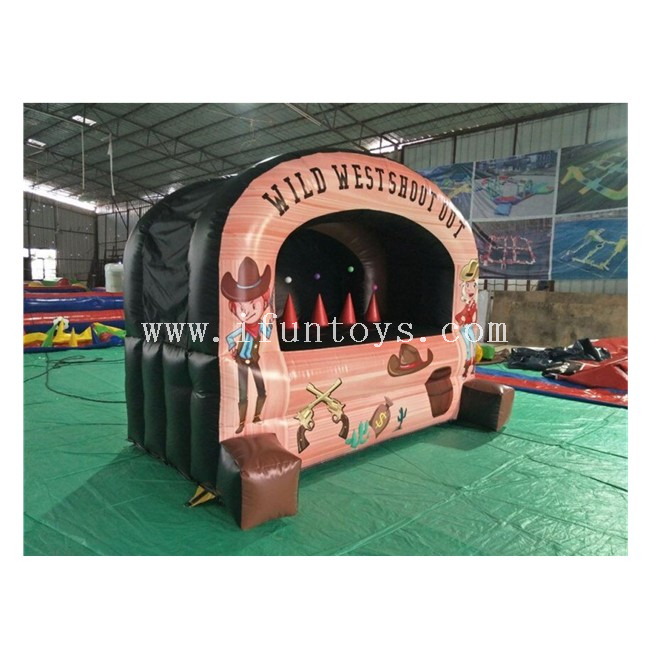 Inflatable Air Archery Target Hover Ball Western Shooting Gallery / Wild West Shoot Out Inflatable Shooting Game for Kids And Adults