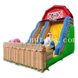 Outdoor Inflatable Dry / Wet Slide for Amusement Park