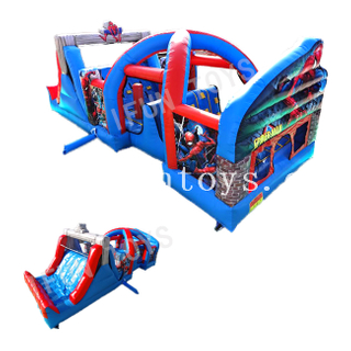 Inflatable Spiderman Obstacle Course / Obstacle Run Challenge