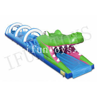 Crocodile Belly Theme Inflatable Slip N Slide / Summer Water Slide for Kids and Adults
