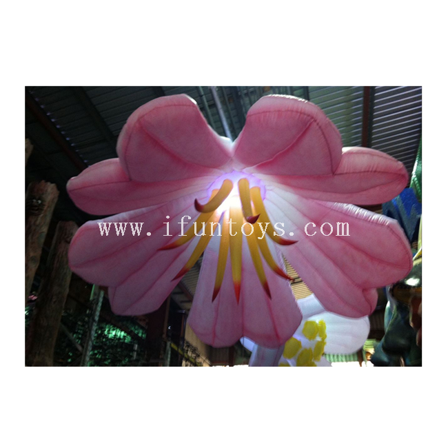 Giant Inflatable Lily Flower / Led Inflatable Hanging Flower /wedding Inflatable Flower for Event