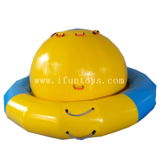 Customized inflatable water saturn/UFO inflatable water spinner/ floating water inflatable rocking saturn for amusement park