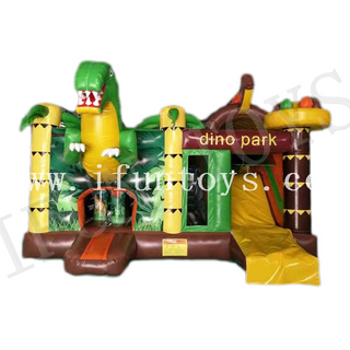 Dinosaur Park Inflatable Jumping Bouncy Castle / Kids Play Park / Inflatable Fun City for Sale