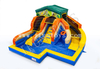 Inflatable Waterslide City with Basketball Hoop / Inflatable Pool with Slide / Funcity Aqua Park