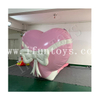 Wedding Decoration Inflatable Love Bombs / Giant Inflatable Love Heart / Pink Inflatable Blasting Heart Balloon with Bowknot