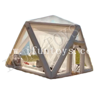 Outdoor Portable Inflatable Camping Tent / Clear Bubble Tent Hotel