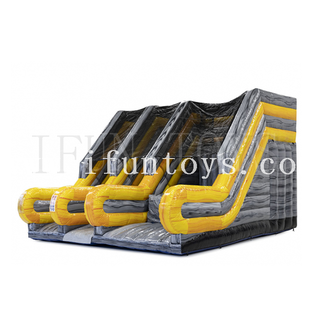 Outdoor Inflatable base jump city / inflatable free fall cliff jump dry slide/Inflatable Ladder Slide Bounce for kids and adults