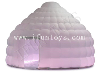 LED Light Inflatable Dome Tent / Inflatable Yurt Tent for Outdoor Camping