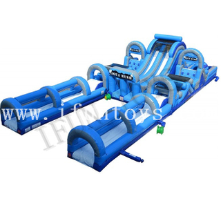 Aqua Rush Wet/Dry Obstacle Course / Obstacle Water Slide for Adults