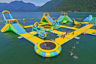 High Quality Inflatable Jumping Trampoline Floating Water Park Games Giant Adults Inflatable Water Park
