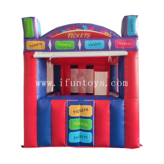 Portable Inflatable Ticket Booth / Outdoor Inflatable Ticket Counter / Inflatable Kiosk Booth Tent