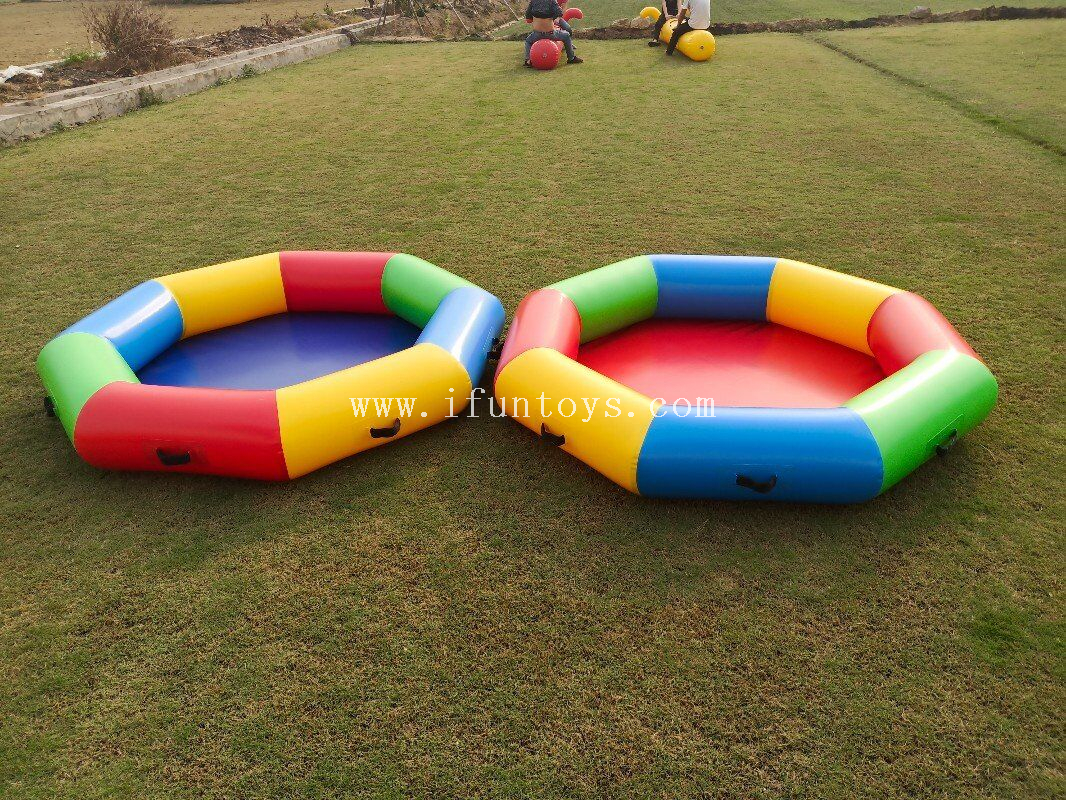 Outdoor Inflatable Fun game props/Inflatable stars holding the moon with ball for team building games and sports games
