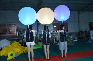 Popular walking inflatable backpack balloon /led advertising balloon /inflatable backpack ball for promotion