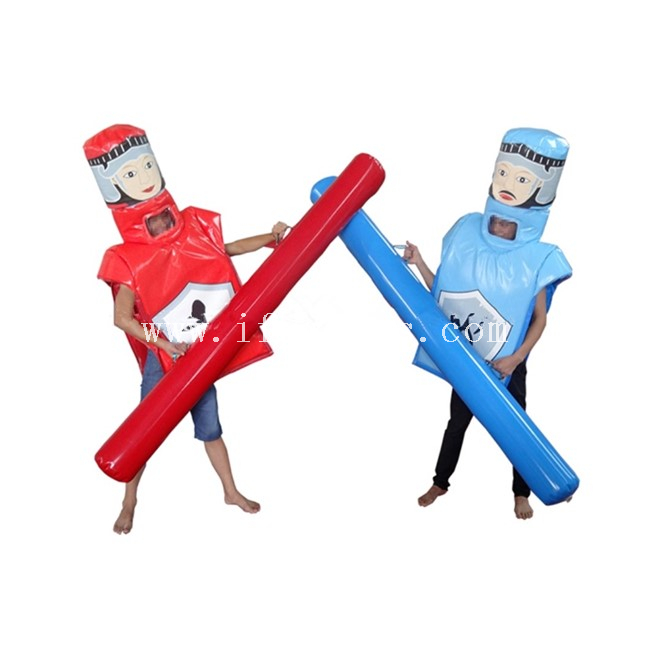Inflatable Gladiators Joust Suits / Inflatable Fighting Game Suit And Sticks / Inflatable Medieval Gladiator for Adults