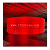 LED Lighting Inflatable Curved Wall Inflatable Backdrop Inflatable Partition Wall for Events