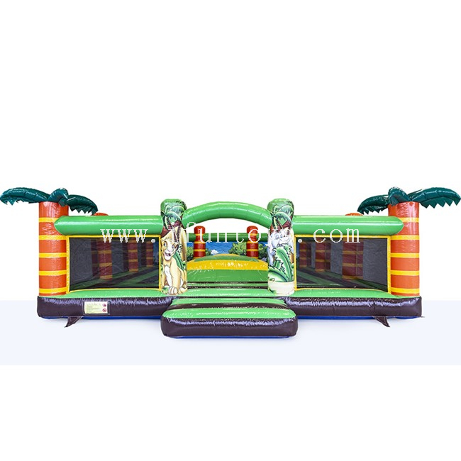 Jungle Theme Inflatable Airmountain with Walls / Inflatable Soft Mountain / Mountain Air Bag Jumping Game
