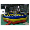 Double Poles Inflatable Meltdown Mechanical Ride Game for 6 Person / Interactive Inflatable Eliminator Game