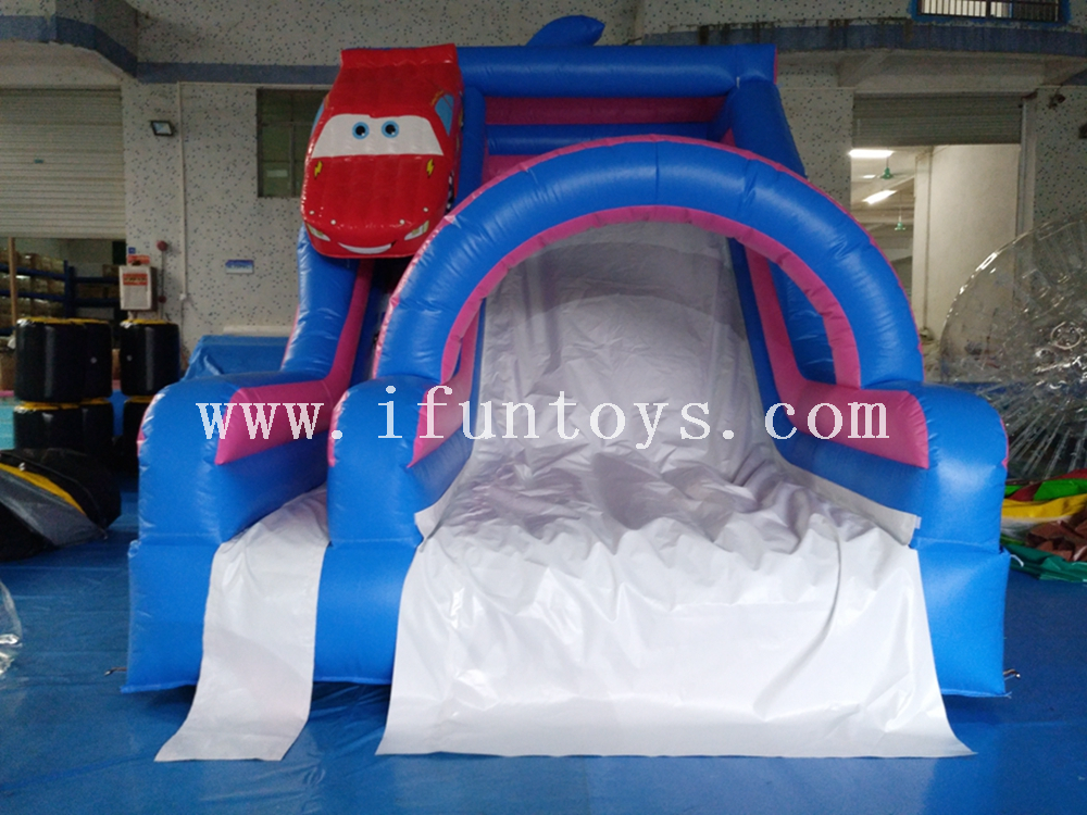 Colorful Car Inflatable Bouncy Castle Slide /Home Backyard Used Inflatable Bouncer Slide/inflatable dry slide for sale
