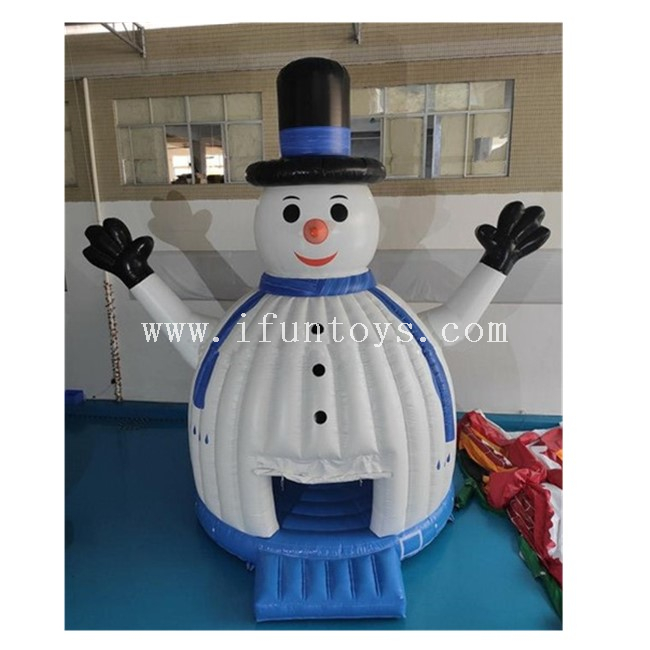Inflatable Snowman Jumping Castle / Snowman Inflatable Air Bounce House / Winter Inflatable Christmas Jumping House