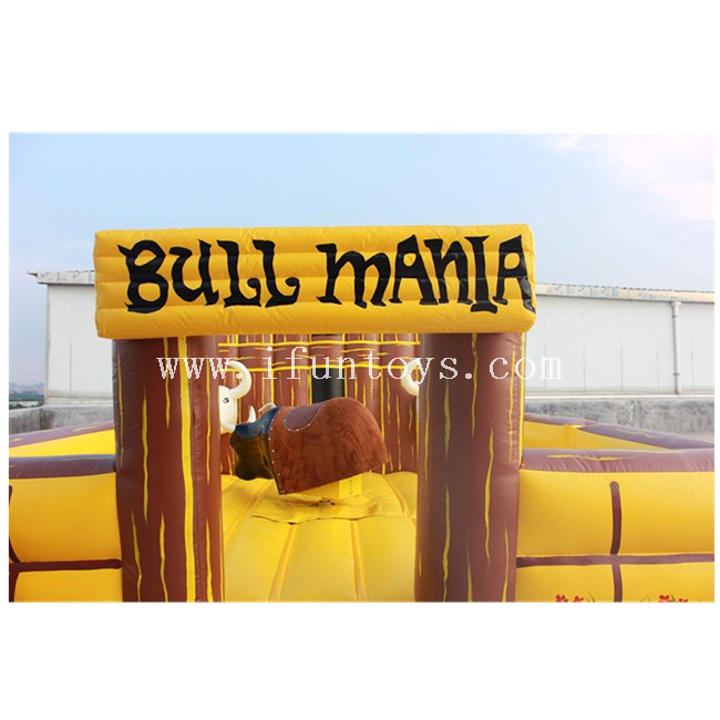 Mechanical Inflatable Rodeo Bull / Inflatable Bull Riding Machine / Inflatable Bucking Bronco Game
