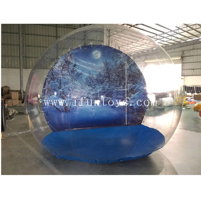 Inflatable Snow Globe Photo Booth with Tunnel / Inflatable Christmas Snow Globe / Inflatable Bubble Ball Tent for Christmas