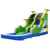 Inflatable Beach Slide with Splash Pool / Outdoor Inflatable Water Slide Pool Pond for Amusement Park