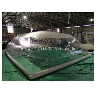 Transparent Inflatable Pool Dome / Inflatable Swimming Pool Cover Tent