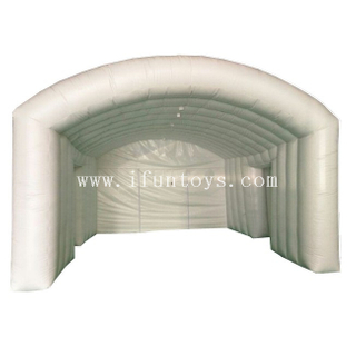 White Inflatable Tunnel Concert Tent / Inflatable Stage Cover Tent / Inflatable Advertising Arch Tent for Party