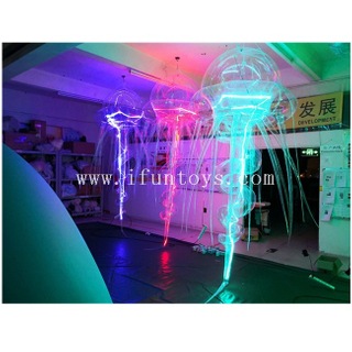 PVC Inflatable Jellyfish Balloon / LED Lighting Jellyfish / Hanging Inflatable Jellyfish Light for Party Decoratoin