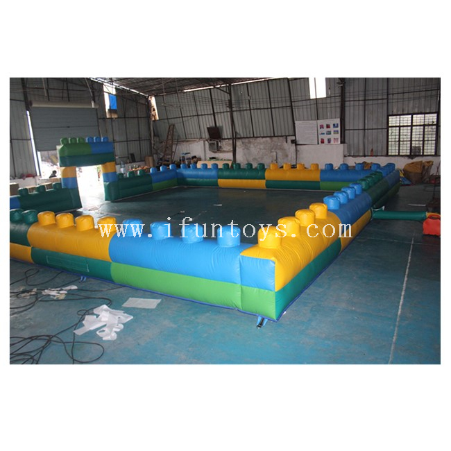 Giant Inflatable Fence Wall / Outdoor Inflatable Bumper Car Field / Inflatable Movable Fence Playground Go Kart