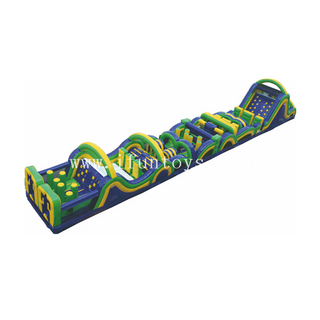 Cheap Radical Run inflatable obstacle course with climbing wall/inflatable tunnel obstacle course for sport game