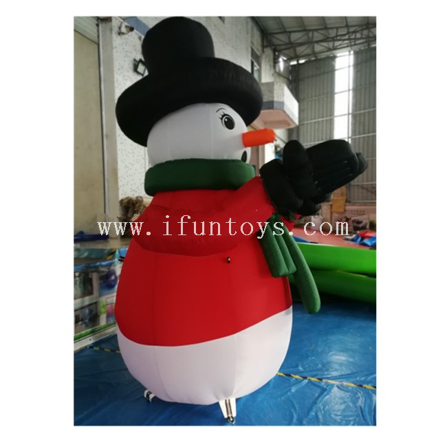 Outdoor Inflatable Christmas Snowman / Inflatable Snowman Girl for Christmas / Inflatable Snowman Model for Decoration